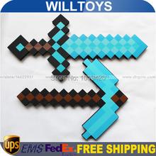 2Pcs/set Optional collocation 2014 Newest Design Game Toy Diamond Sword Minecraft Foam Mosaic Sword/Pickaxe/Hamaxe Free Shipping(China (Mainland))