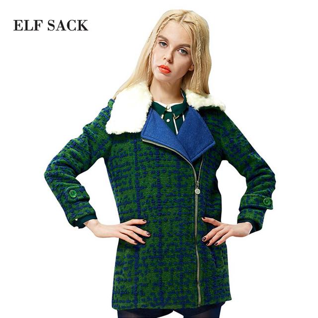 Elf SACK мода новое новое поступление 2015 женщин зимы тонкий берберский флис с отложным ...