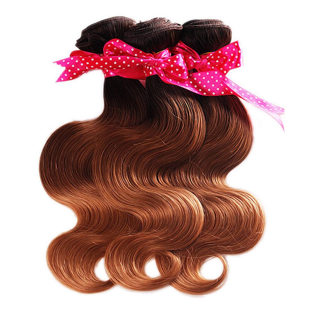 Cheap Malaysian Hair 10pcs/lot New Arrival T2 8 27 Ombre Malaysian Hair 3 Tone Ombre Hair Extensions(China (Mainland))