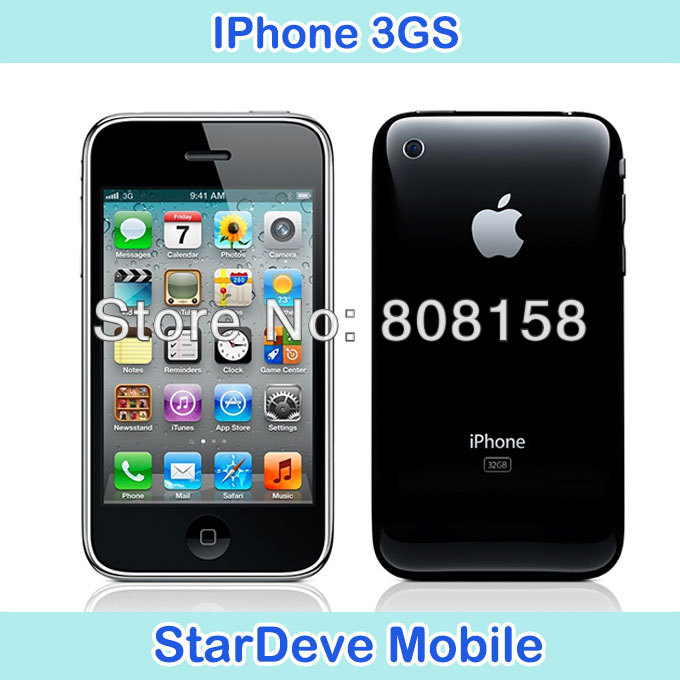 100% original unlocked iphone 3GS 8GB 16GB 32GB mobile phone in sealed box 1 year warranty Free Gfit free shipping(China (Mainland))