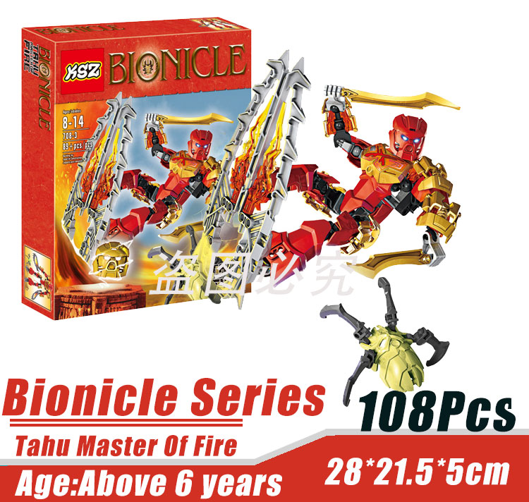 BionicleMask of Light XSZ 708-3 Childrens Onua Master Of Frie Bionicle Building Block Minifigure Toys Compatible With Lego<br><br>Aliexpress