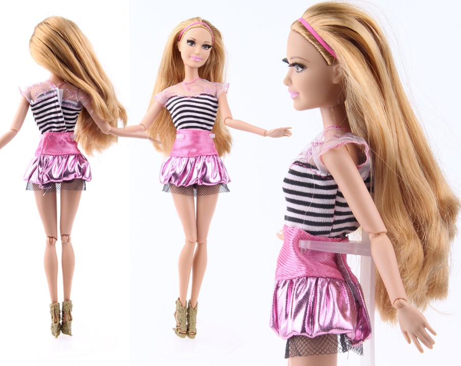 UCanaan Randomly Decide A Lot = 5 Units Handmade Trend Girl Outfit Put on Shirt Trousers Shorts Pant Skirt Garments for Barbie Doll