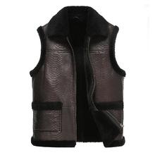 Leather suede men genuine sheepskin vest men fur vest cashmere fur sheep wool liner natural fur jacket male New Phoenix V0841(China (Mainland))