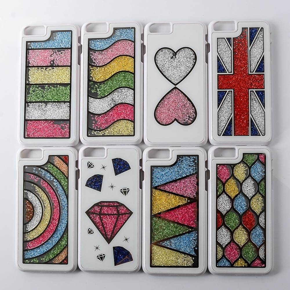 For iphone 6 plus 5.5 inch Special Design individuality crystal rhistone hard handmade case for iphone 6 plus phone cases(China (Mainland))