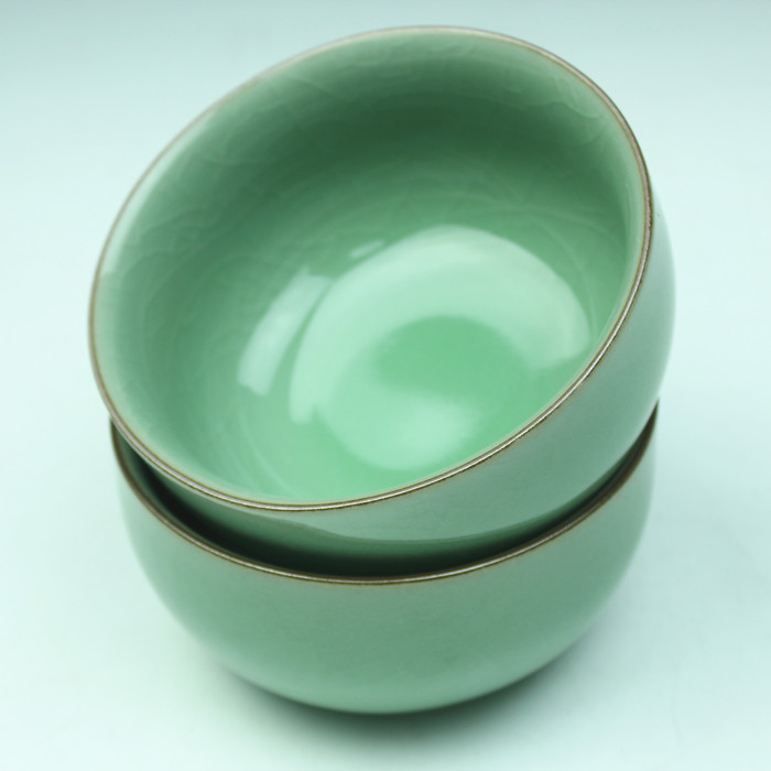 Celadon bowl ceramic rice household microwave chinese style tableware gift set - Clay Figurine Porcelain workshop store