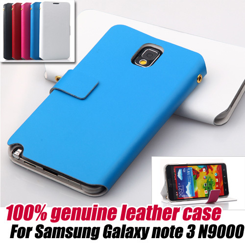 10pcs/lot.100% genuine stand Leather Flip Wallet Case Cover for Samsung Galaxy NOTE 3 N9000, free shipping
