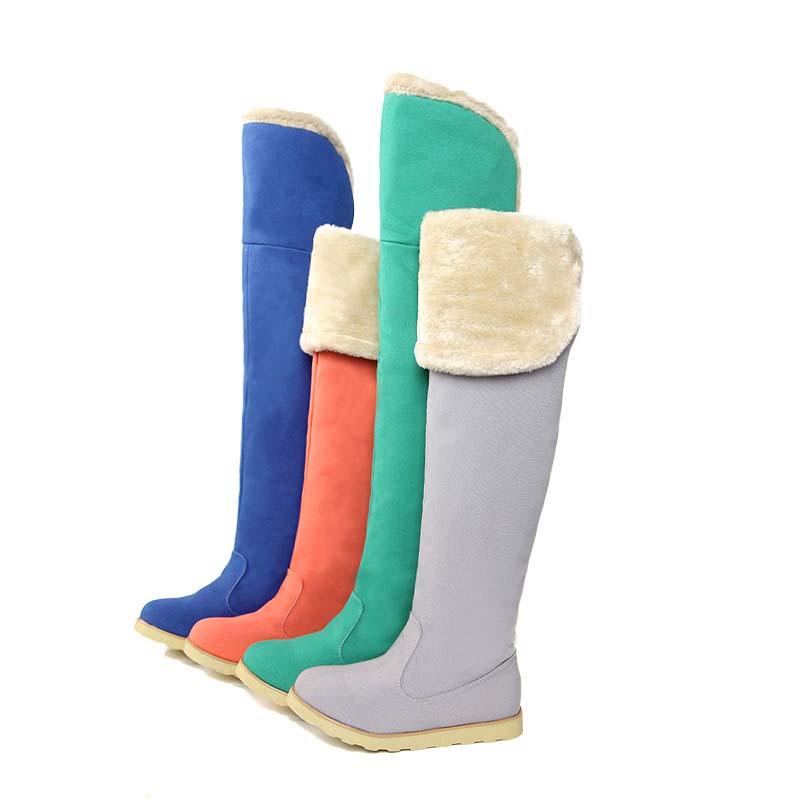 green blue the knee high boots flats heel