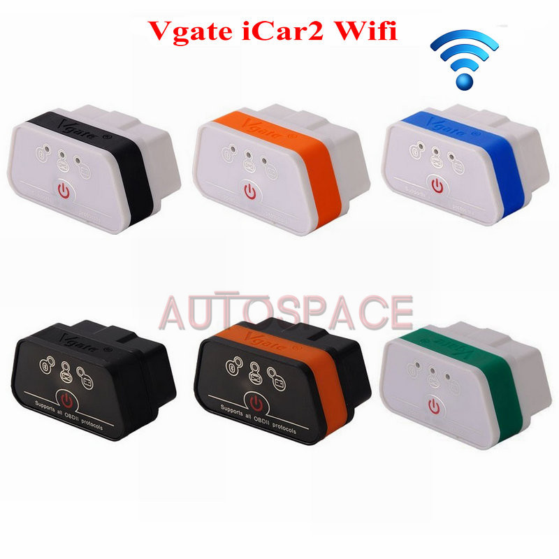 Latest ELM327 Vgate iCar2 WiFi OBD2 II Protocols Code Reader & Scanner Diagnostic Tool Fit For Android/IOS/IPHONE/PC(China (Mainland))