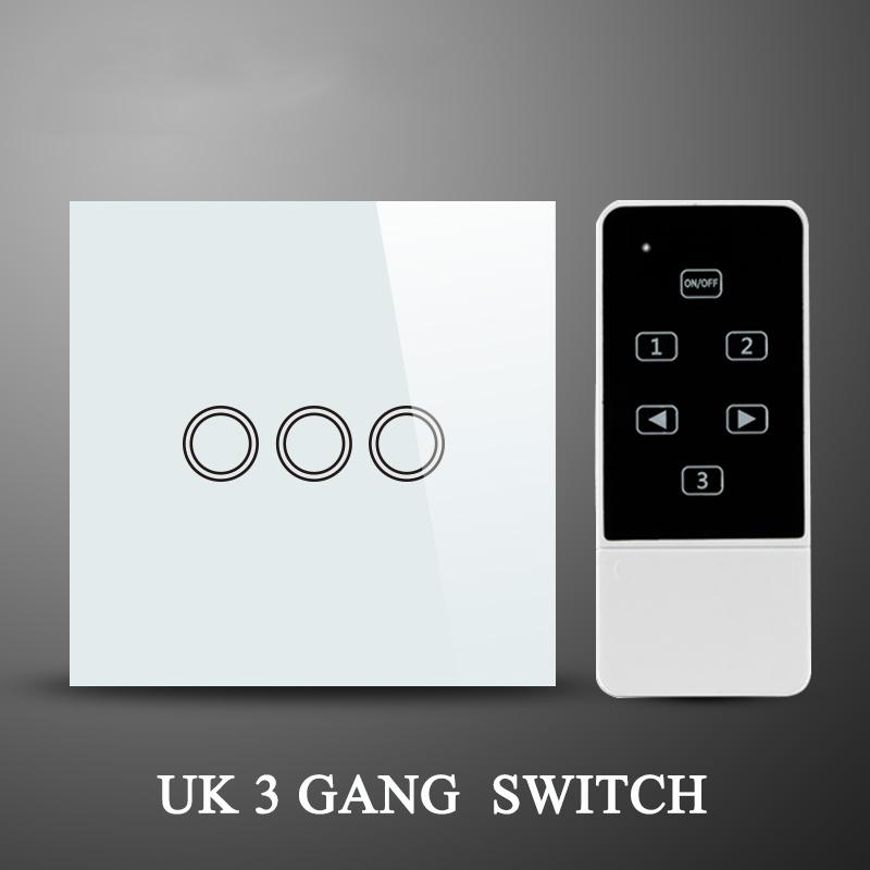 buy white black uk standard 433mhz 3 gang. Black Bedroom Furniture Sets. Home Design Ideas