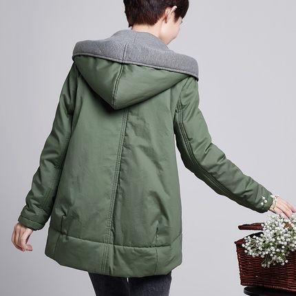 Women Cotton Jacket 2016 Winter Middle Aged Mother Thick Warm Hooded Long Paragraph Parkas Coat Female Plus Size  C419
