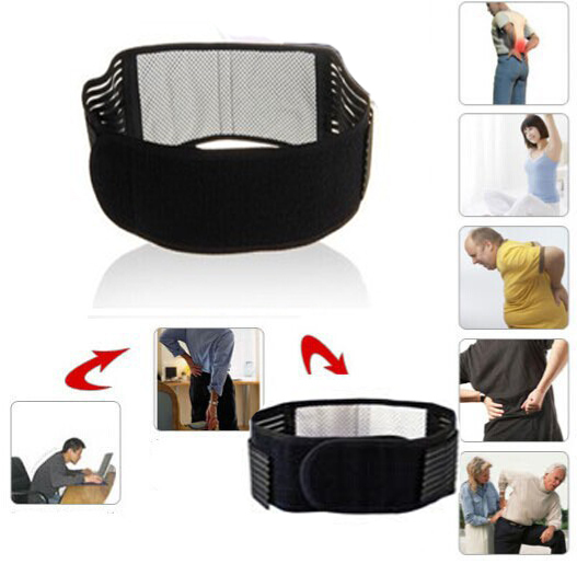 1 Pcs Adjustable Tourmaline Self-heating magnetic therapy support belt waist belt Back Lumbar Support Brace waist double Banded(China (Mainland))