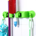 New Arrival 2 IN 1 Kitchen Mop Broom Holder Wall Mounted Organizer Hanger Towel Hook hooks
