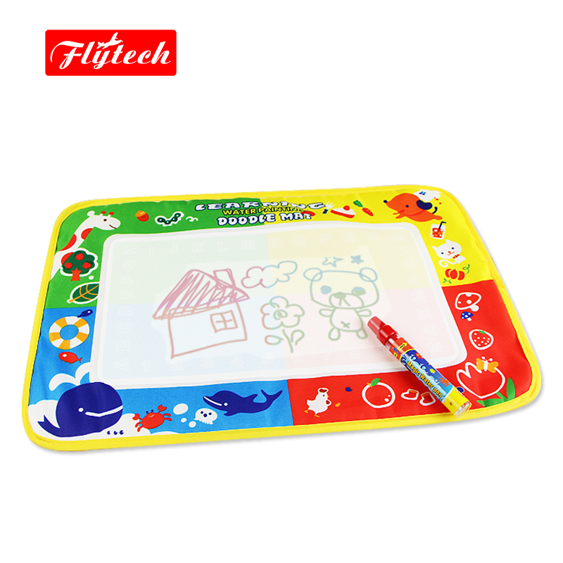 FT1322 46x30cm Multicolor Modern Educational Magic Drawing Toy Doodle Water Drawing Mat/Drawing Board/Baby Game Rug(China (Mainland))