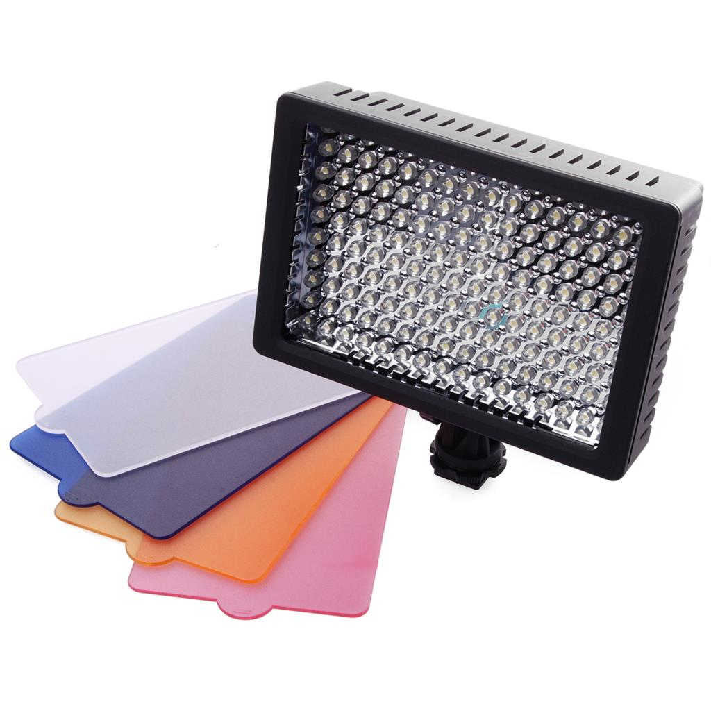 Photography camera led light /Pro 160 LED Video Light Studio Lamp Panel + 4 Filters for DSLR Camera DV LF462(China (Mainland))