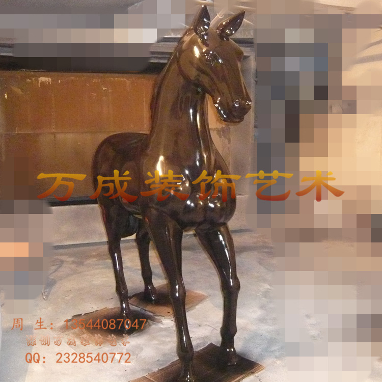 Simulation horse sculpture 2 meters high a simulation horse sculpture fiberglass animal sculptures car paint effects(China (Mainland))
