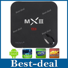Original MXIII Amlogic S802 Android tv box 4.4 1G/ 8G Quad Core 4K Smart TV Box Mini PCw WiFi/ HDMI/ XBMC/ Netflix RemoteControl(China (Mainland))