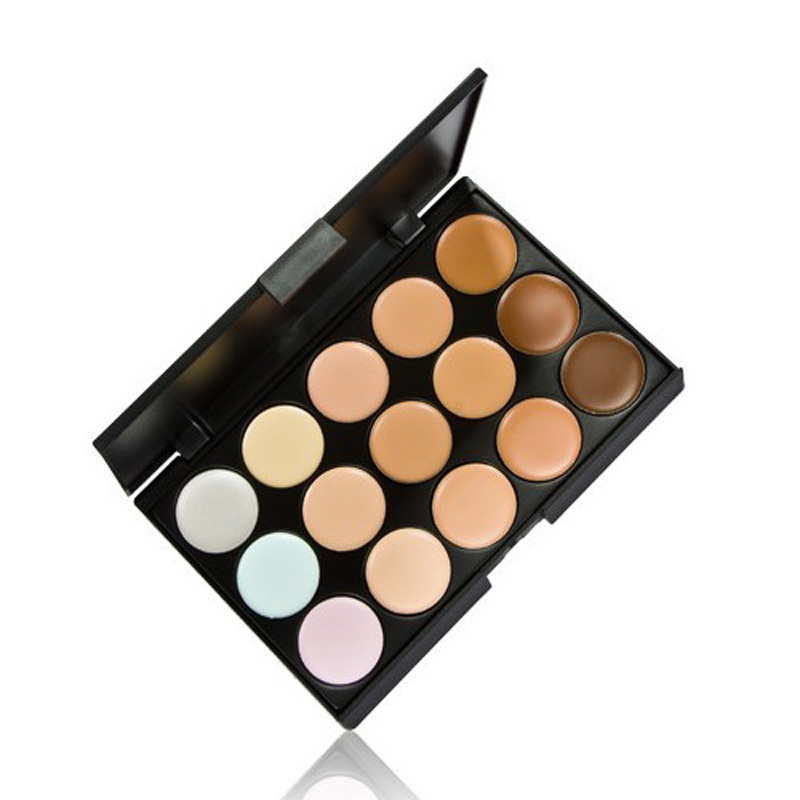 FREE SHIPPING Professional 15 Colors Concealer Color 1 Facial Face Cream Care Camouflage Makeup Blush Palettes Cosmetic base(China (Mainland))