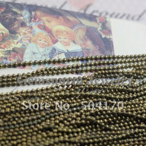 1.5mm Smooth Gunmetal Cable Chains Ancient Bronze Medium Beaded Chains 413219<br><br>Aliexpress