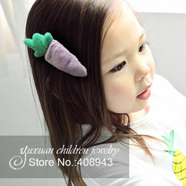 Cute Korean children hair accessories Handmade cotton carrots barrettes Baby girls hair clips 3color hairpin Free shipping!R-656(China (Mainland))