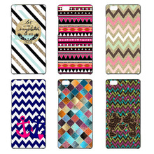 Stylish plaid pattern lines Case for Huawei Ascend P7 P8 P8 lite P9 P9 lite cover luxurious black hard plastic phone case