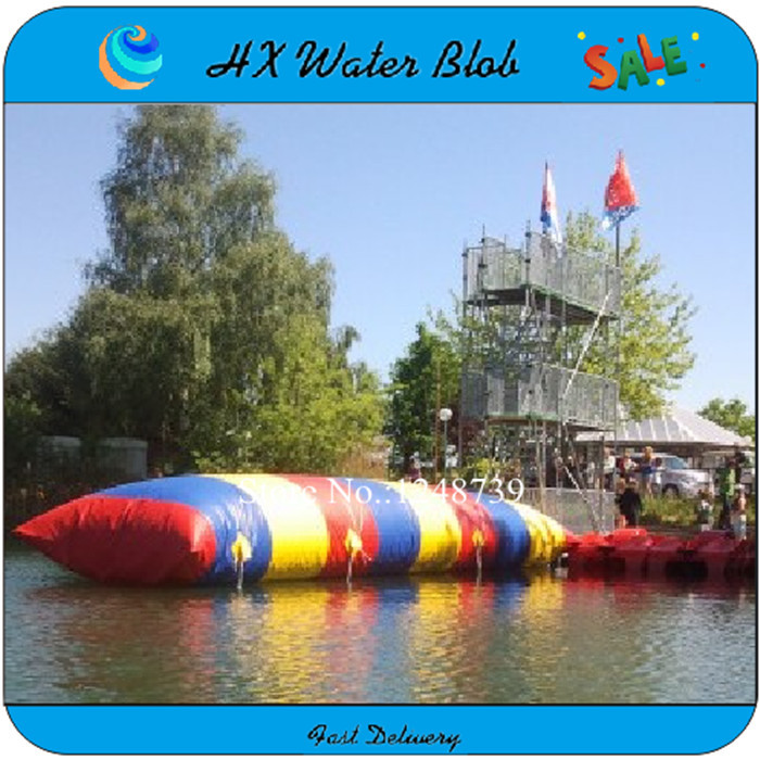 Free Shipping 0.9mm PVC Tarpaulin 5*2m inflatable water blob,water pillow with good quality(China (Mainland))