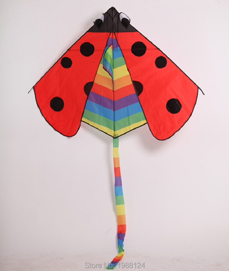 Ladybug-Shaped Kite Flying Without Handle&Line Outdoor Toys Kite Flying Kites For Adults Nylon Ripstop Fabric Pipas Voadores(China (Mainland))