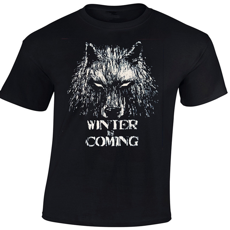 Men s Novelty Fashion Animal T shirts Game Of Thrones Direwolf Winter Is Coming T Shirt