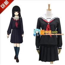Hell Girl Ai Enma Cosplay Costume Japan Anime Halloween School Uniform Top+Skirt+Tie - AimeePang store