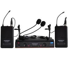 FREEBOSS KU-22H2 UHF Wireless Microphone System DJ Karaoke 2 Lapel 2 Headset microphone (2 Bodypack Transmitter)(China (Mainland))