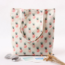 Cotton Canvas Eco Reusable Shopping Shoulder Bag Tote Pineapple L224 NEW(China (Mainland))