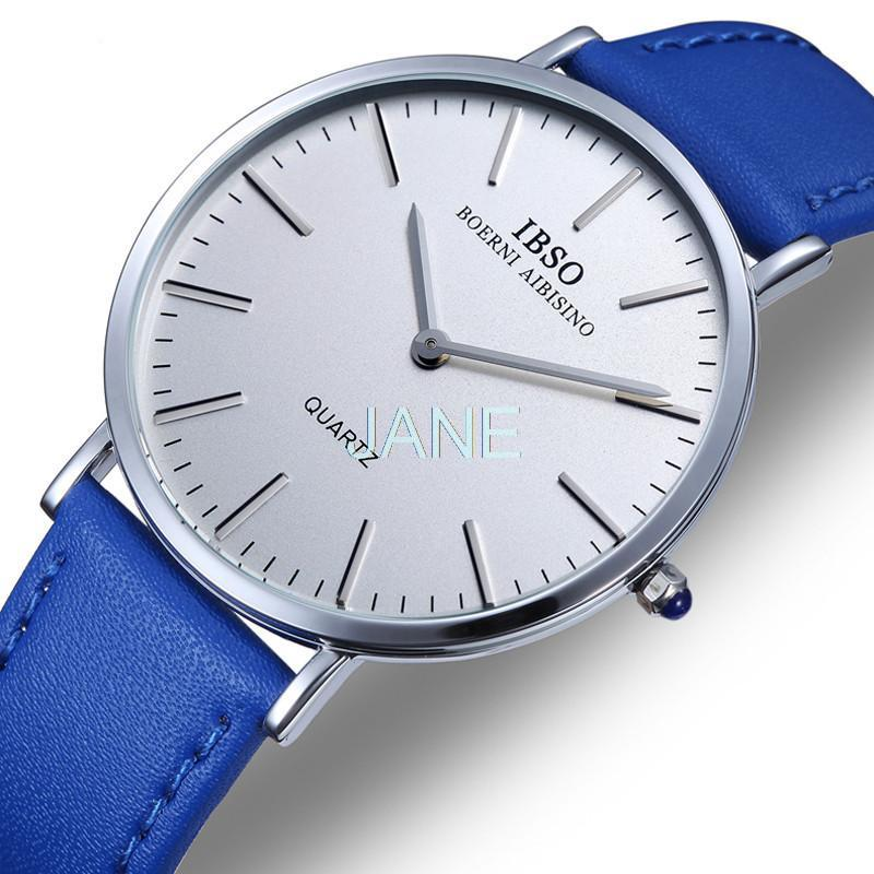 Genuine IBSO 2203 Simple Casual Female Form  Quartz Watch Waterproof Watch Dress Vintage Slim Leather Strap 0650<br><br>Aliexpress