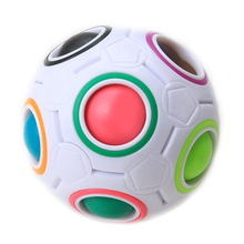 1* Fun Creative Spherical Magic Cube Speed Rainbow Ball Football Puzzles Kids Educational Learning Toys for Children Adult Gifts(China (Mainland))
