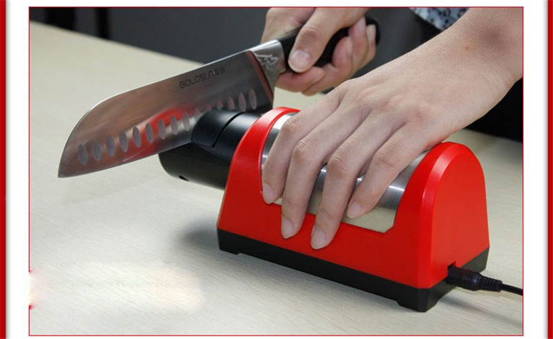 Buy Two Stages Diamond Ceramic Kitchen Chef Knife Electric sharpener T1030D CE CQC 18W head can replacement cheap