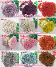 576pcs 1mm multi colors options flower stamen floral cake decoration Double heads 11010105(576)(China (Mainland))