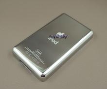 256 gb metallo di spessore posteriore custodia di copertura shell per ipod video 5a 6a 7a classic hd ssd flash cf grande capacità della batteria aggiornamento(China (Mainland))