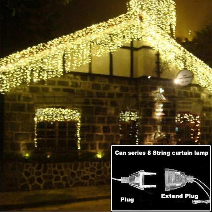 christmas lights outdoor decoration 3.5m droop 0.3-0.5m led curtain icicle string lights new year wedding party garland light(China (Mainland))
