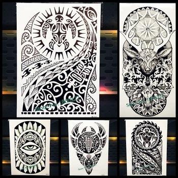 Large Body Art Arm Sleeves Temporary Tattoo Sticker Fast Furious Dwayne Rock Johnson Tattoo PHB523 Fake Tatoo Men Indian Totem