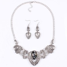TAD1 Antique Jewelry Set  Waterdrop Statement Choker Vintage Necklace Set For Women Party(China (Mainland))
