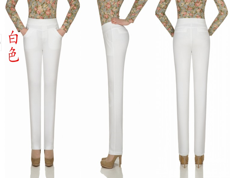 2014 spring and autumn skinny pencil the brasen elastic plus size high waist slim thin basic female trousers pants womenОдежда и ак�е��уары<br><br><br>Aliexpress