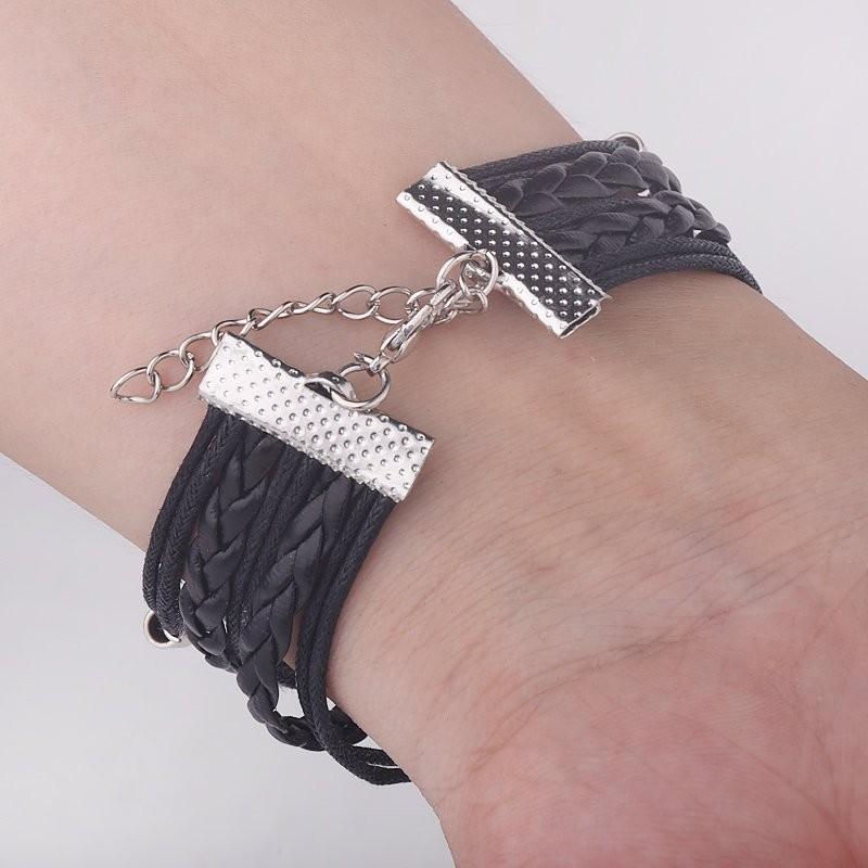 Vintage Leather Cord Infinity Harry Potter Bracelet