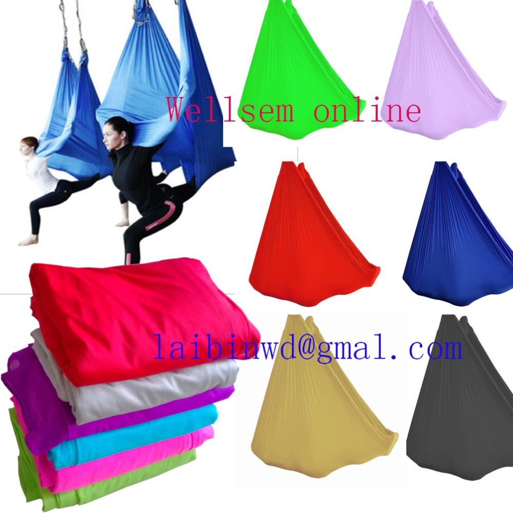 Top quality  Aerial  Flying Yoga Hammock Swing Trapeze Anti-Gravity Inversion Aerial Traction touch Device  width 2.8m W<br><br>Aliexpress