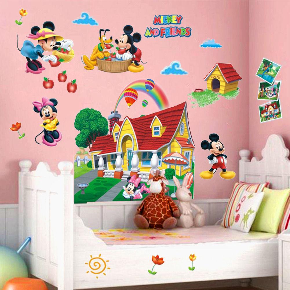 Pegatinas mickey mouse compra lotes baratos de pegatinas for Stickers pared baratos