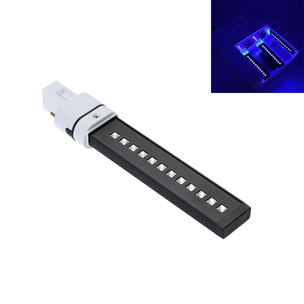 UV Lamp Nail Art Dryer 9W LED Light Bulb Replacement Polish Curing Nail Dryer Light Tube 365+405nm Double Light Source New(China (Mainland))