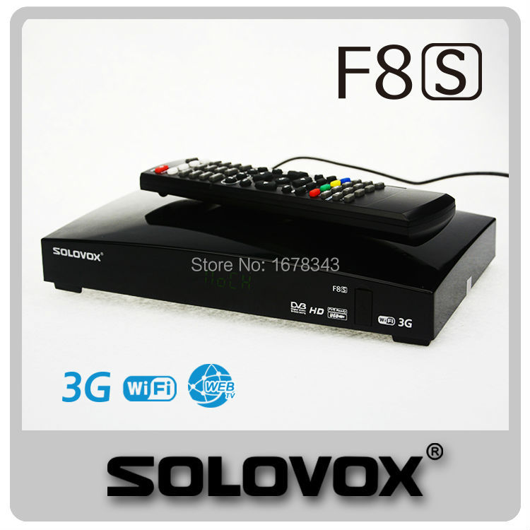 5PCS free shipping Original SOLOVOX F8S 1080p Full HD Satellite Receiver DVB Support Youpron CCCAM/MGCAM/NEWCAM Web TV(China (Mainland))