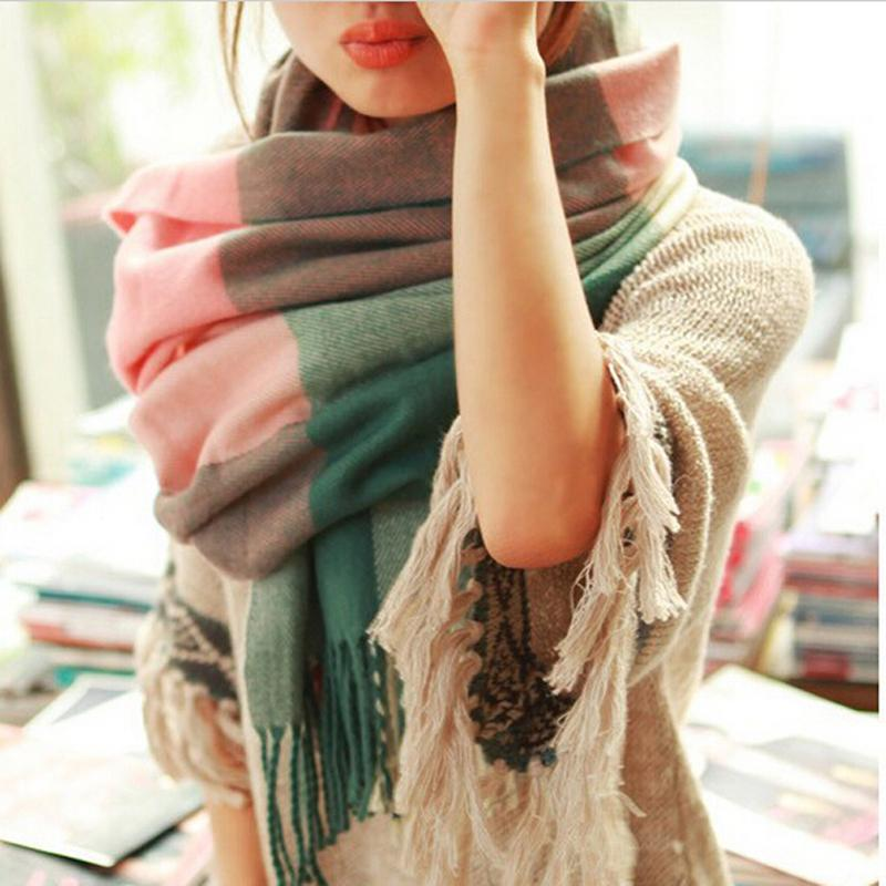 2015 Fashion Wool Winter Scarf Women Spain Desigual Scarf Thick Shawls and Scarves Cashmere Long Scarf