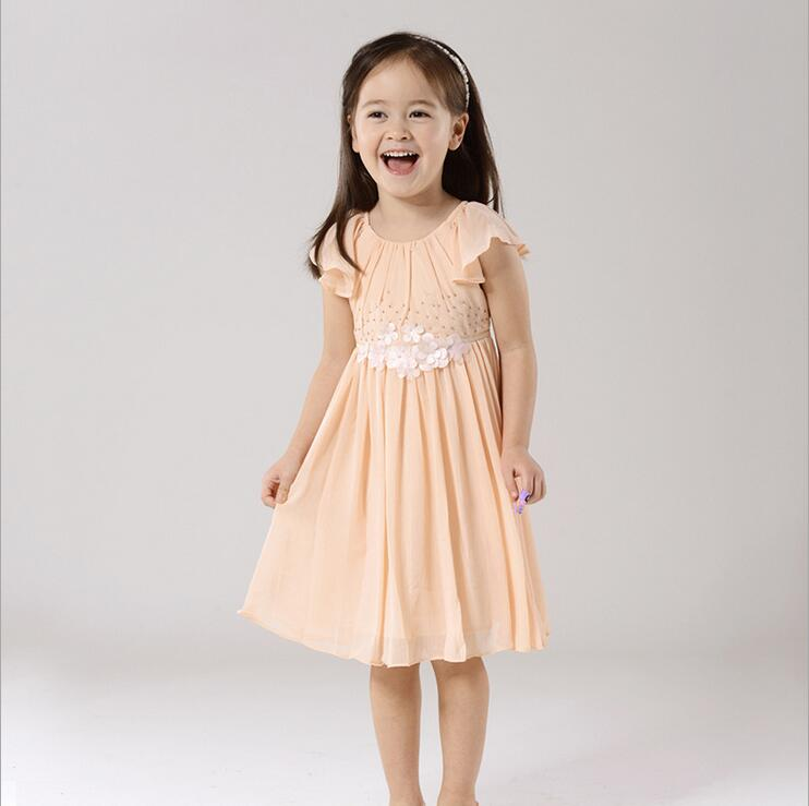 Boutique Clothing Girls new 2016 Spring Summer Chiffon Girls Dresses Kids Dresses for Girls Kids Clothes Baby Girl Clothes XJ(China (Mainland))