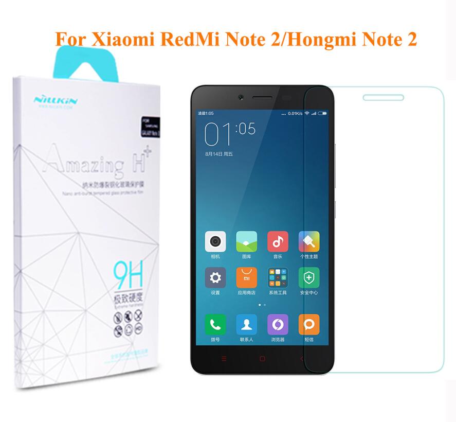 For Xiaomi Hongmi Note2 Screen Protector NILLKIN H+ Tempered Glass Screen Protector Film For Xiaomi Hongmi Note 2/Redmi Note 2(China (Mainland))