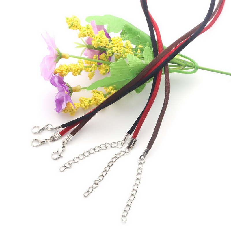Free Shipping 10pcs/lot Assorted Colors Organza Ribbon Necklace Cord with Lobster Clasp For DIY Jewelry Making (FXR023-01)(China (Mainland))
