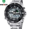 WEIDE 2015 Top Selling Men Full Steel Watch Sport Army Watches Backlight LED Display Alarm Week  Functional 7 Colors WH1104