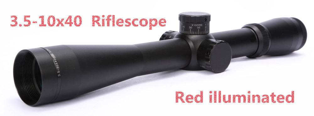 Free shipping  3.5-10x40 M3 Mark3 Mil-dot Airsoft Riflescope Red illuminated Sight Air Gun Pistol Scope For Hunting<br><br>Aliexpress